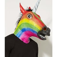 Rainbow Unicorn Mask - Spencer's