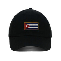 Cuba Embroidered SOFT Unstructured Adjustable Hat Cap