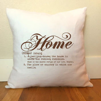 Home Pillow Cover, Home Definition Pillow