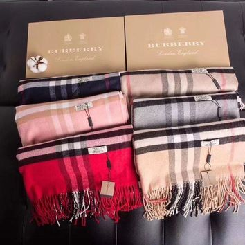 PEAPOP7 Burberry Fashion Men/Woman Cashmere Shawl Tassel Scarf