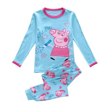 Kids Pig Pajamas Set Children Pajama For Girls 2-7 Years Girls Sleepwear Baby Pyjama Set Toddler Boys Girls Clothing Set