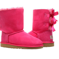 UGG Australia Bailey Bow Cerise Pink Girls Winter Boots 3280