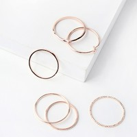 Tender Heart Rose Gold Ring Set
