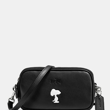 COACH X PEANUTS CROSSBODY POUCH IN LEATHER | Dillards