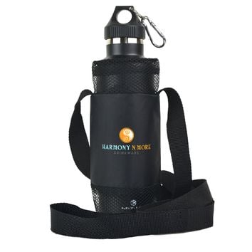 Best Water Bottle Holder – Sling – Pouch - Carrier - Case - Made of Mesh with a  Comfortable Shoulder Strap, Fits Most All Universal Water And Sports Bottles