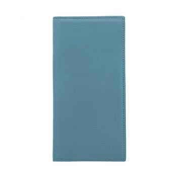 Bifold Leather Wallet Blue