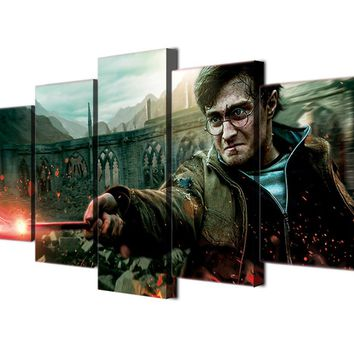 Harry Potter Character Wall Art Panel Canvas Print For Living Bed Room Print