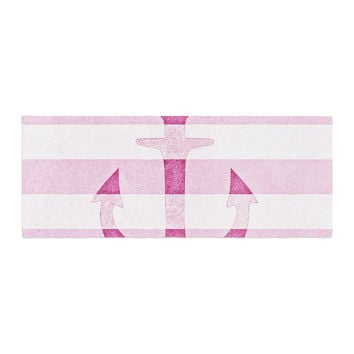 "Monika Strigel ""Stone Vintage Pink Anchor"" Bed Runner"