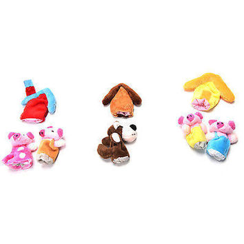 Finger Puppets Educational Hand Toy Kids Story Three Little Pigs Finger HU