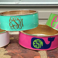 Personalized Monogram Preppy Whale Ampersand Bangle