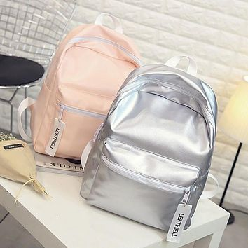 Hologram Laser Backpack For School Student Women's Laser Silver Color Holographic Bag backpacks Women Backpack