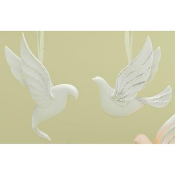 6 Christmas Ornaments - Doves