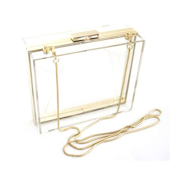 Luxury Acrylic Fashionable Transparent Evening Clutches Shoulder Bags Handbag