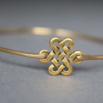 Gold Celtic Love Knot Bracelet, Celtic Jewelry, Gold Jewelry, Gold Bracelet, Celtic Knot, Gifts For Her, Gold Bangle, Irish Jewelry, Ireland