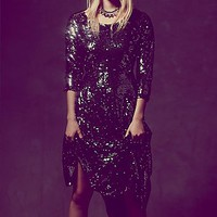 Free People Womens Fp X Magic Sequin Dress - Gunmetal