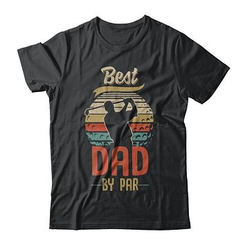 Vintage Best Dad By Par Fathers Day Funny Golf Gift