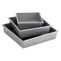 Cake Boss Professional 3-pc. Nonstick Square Cake Pan Set (Grey)