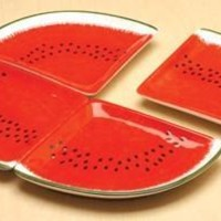 Watermelon Ceramic Plate Set