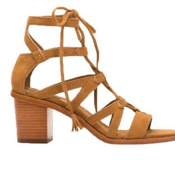 DCCKAB3 Frye Brielle Gladiator Heeled Sandals Sand