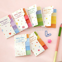1 set Lot Rainbow Sticky notes Multicolor Post it Memo pad scrapbooking stickers bookmark office material School supplies