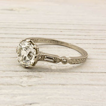Vintage 140 Carat Old European Cut Diamond by ErstwhileJewelry