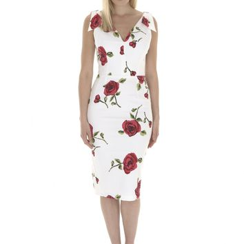 The Pretty Dress Company Ava Cadiz Rose Pencil Dress - Shop from The Pretty Dress Company UK