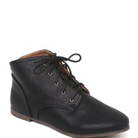 Qupid Flat Booties - Womens Boots - Black -