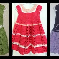PATTERN: Ribbon & Lace Toddler Dress