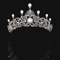 Natural pearl and diamond tiara, late 19th century | Lot | Sotheby's
