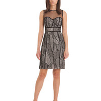 Js Collections Mesh Patchwork Dress