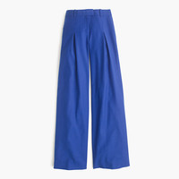 J.Crew Womens Petite Wide-Leg Pant In Wool