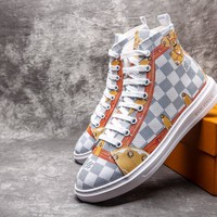 2018 Louis Vuitton Men Fashion relaxation High help shoes