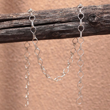 Sterling Silver Omega Chain Necklace - Large Link - Handmade Metalwork - Artisan Jewelry