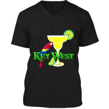 Margarita in Key West Florida Beach Vacation T-Shirt Mens Printed V-Neck T