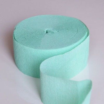 Mint Crepe Paper 81FT Party Streamer Wedding Birthday Baby Shower
