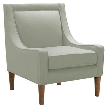 Scarlett Swoop-Arm Chair, Light Moss, Accent & Occasional Chairs