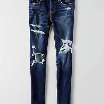 AEO Denim X Jegging, Destroyed Dark Wash