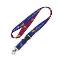 """Licensed FC Barcelona Official Soccer 22"""" Lanyard Key Chain Barca by Wincraft KO_19_1"""