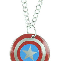 Marvel Captain America Logo Kids Pendant With Chain