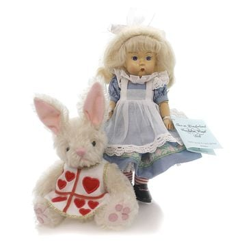 Dolls ALICE IN WONDERLAND WENDYKIN Wood & Fabric & Plush Fairy Tale 33545