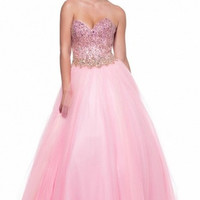 Kari Chang KC30 Pink Tulle Ballgown 2015 Prom Dress