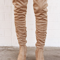 Pamela Over The Knee Boots Natural