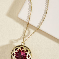 It Was an Honest Mystique Necklace in Magenta | Mod Retro Vintage Necklaces | ModCloth.com