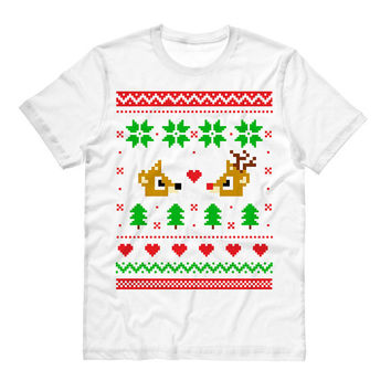 Tshirt - Rudolph and Clarice -Christmas Holiday Sweater Tee T-Shirt Mens Ladies Womens