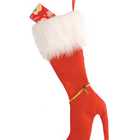High Heel Stocking  - Red