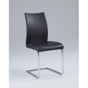 Chintaly Jane Contour Back Cantilever Side Chair In Chrome