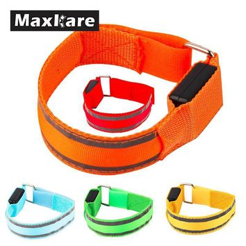 Maxkare LED Arm bands Lighting Armbands Leg Safety Bands for Cycling Skating Party