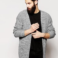 ASOS Longline Cardigan in Twisted Rib