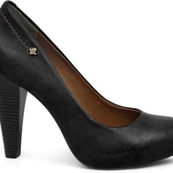 Scarpin Soft Black Wood Heel - Cravo e Canela