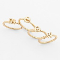 BP. 'Meow' Stackable Midi Rings (Set of 4) (Juniors) | Nordstrom
